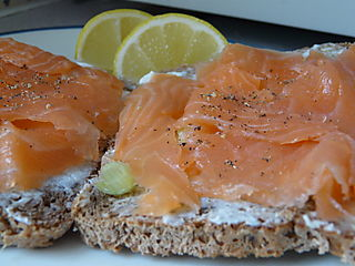 Toast with Smoked Salmon (lox)